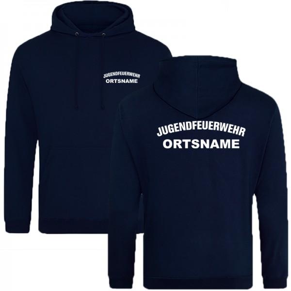 Jugendfeuerwehr Premium Kapuzenshirt mit Ortsname