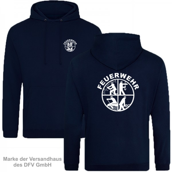 Feuerwehrsignet Premium Kapuzenshirt